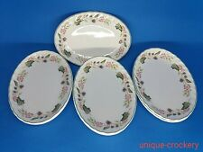 x British Home Stores Victorian Rose Oval Nic Nac Trays /  Gravy Boat Saucers