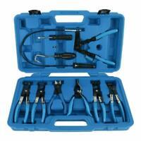 9pcs Hose Clamp Pliers Flexible Wire Long Reach Plier Fuel Oil Water Hose Remove