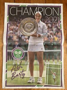 2021 Wimbledon Champion Ash Barty - Herald Sun Poster