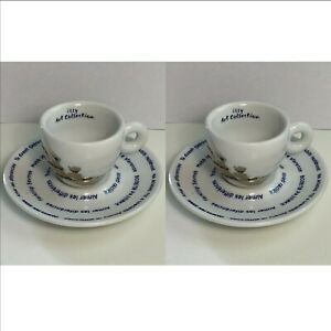 2 x Illy Art Collection Espressotasse Pistoletto Love Difference Limitiert SET