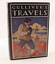 Gulliver's Travels Hard Cover Book 1936 Rand McNally Illustrated