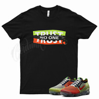 Black TRUST T Shirt for Nike Vapormax Flyknit 3 Exeter Edition Orange Volt