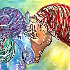 """HORSE ART PAINTING / original art / 8 x 8"""" / modern paintings of horses ebay.com"""
