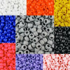 3 for 2 100 9x6mm OPAQUE PONY BEADS
