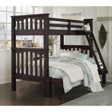 Ne Kids Highlands Harper Twin over Full Bunk Bed in Espresso