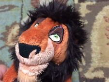 "Lion King Scar Plush 10"" Tall Walt Disney World Parks Exclusive Htf"