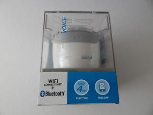 Jam Voice Portable Bluetooth Speaker with Wifi Connectivity & Amazon Alexa White