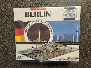 City of Berlin History Time Puzzle 4D Cityscape 1300+ pieces  New Sealed 40022