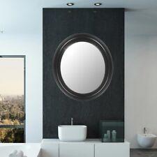 Miroir mural ovale cadre noir ornaments baroque antique salle de bains couloir