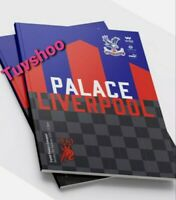 Crystal Palace v Liverpool PREMIER LEAGUE PROGRAMME 19/12/20 HISTORICAL RESULT!!