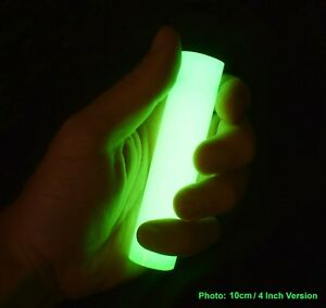 6 INCH INDESTRUCTIBLE + 100% REUSABLE Glowstick, Super Bright + Completely Safe
