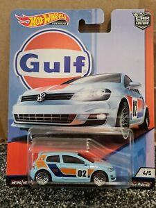 HOT WHEELS CAR CULTURE GULF RACING VW VOLKSWAGEN GOLF MK7 BLUE ORANGE REAL RIDER