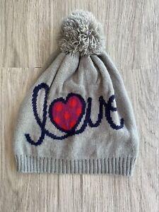 "Baby Gap Knit Hat, ""Love"" Heart Size S/M Acrylic"