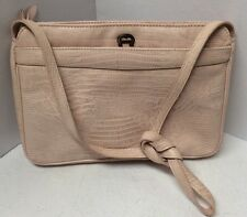 Etienne Aigner vintage ladies handbag cross body shoulder strap pale pink H31