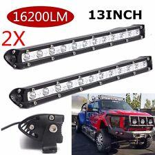 2X 13inch 36W 16200LM SPOT SLIM LED Single Row Offroad Work Light Bar ATV SUV