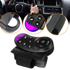 Car Auto Steering Wheel Button Remote Control Angle 35°Bluetooth For DVD MP3 GPS