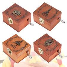 Retro Carillon a Mano Manovella In Legno Music Box Musica Scatola