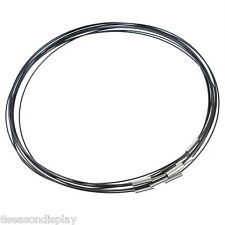 """10pcs Black 18"""" Choker Necklace Magnetic Clasp Bubble Gum"""