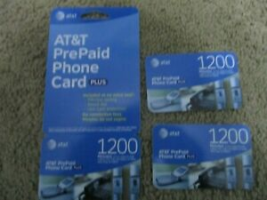 AT&T Prepaid Card - 3 cards- total of 2085 minutes