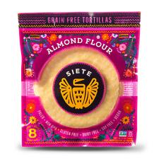 Siete - Almond Flour Paleo, Primal Tortillas - 2-PACK - 8 tortillas per package