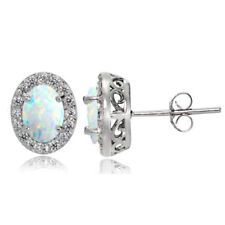 Topaz White Stud Fine Earrings