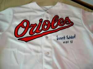FRANK ROBINSON (HOF 82) Signed Orioles Baseball Jersey -PSA Authenticated