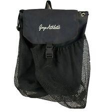 GAP Athletic Backpack Gym Bag Mesh Black Drawstring 17 x 14