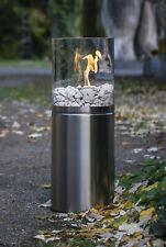 Bio Ethanol Tisch Kamin Glasfeuer Innen Außen Feuerstelle 84 cm Blank Edelstahl