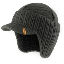 Scruffs Warm Winter Peaked Beanie Hat Grey Thermal Insulated Outdoor Workwear