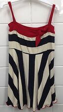 Tiny Bubbles Girls Size 18m (1) Dress Sailor EUC Party Designer Navy Stripe Red