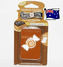 YANKEE CANDLE * Salted Caramel * Scented Tin AIR FRESHENER * 4 Weeks Fragrance