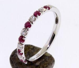Ruby & Diamond Ring / Band 14 K.Solid Gold Engagement/Anniversary Handmade U.S