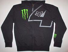 FOX Racing Monster Energy #4 Carmichael Full Zip Heavy Hoodie Sweatshirt L Large