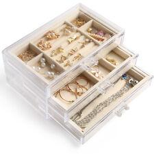 Jewelry Box Jewellery Organizer Earring Rings Necklaces Bracelets Display Case