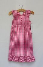 Strasburg Dress sz 4 Pink White Plaid Ruffle Boutique Spring Summer