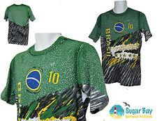 RARO Nike Brasil Brasil Fútbol Estampada Camiseta de algodón verde M