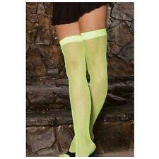Elegant Moments Neon Green Fishnet Thigh Hi Highs