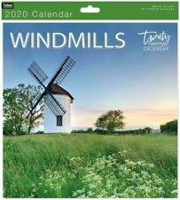 Traditional 2020 Calendar Office Wall Calender Month View Xmas Gift WINDMILLS