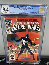 Marvel Super Heroes Secret Wars #8 1984 CGC 9.4 origin venom symbiote key WP