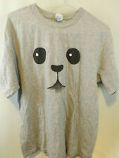 All Style AAA Apparel Dog Face Graphic Grey T-Shirt Size L