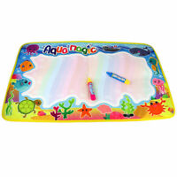 59*36cm Kids Aqua Doodle Water Drawing Painting Mat 2 Water Pens Toy Gift