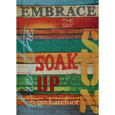 "EMBRACE THE DAY 12.5"" X 18"" GARDEN FLAG 27-2783-214 FLIP IT! RAIN OR SHINE SMR"