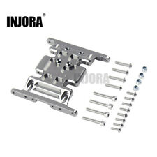 INJORA Silver CNC Aluminum Gear Box Mount Holder For Axial SCX10 RC Crawlers Car