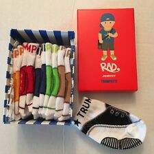 TRUMPETTE Rad Johnny Baby Boy Socks 0-12M NIB Multi Color New 6 Pairs