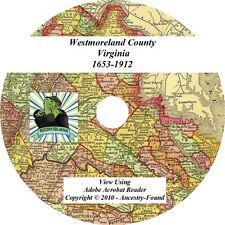 1912 History Genealogy WESTMORELAND County Virginia VA