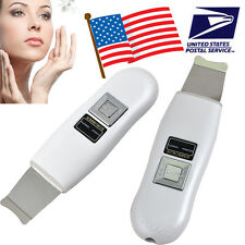 USA Facial Ultrasonic Ultrasound Ion Skin Scrubber Device Face Care Machine