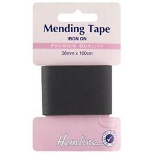 10 COLOUR 1m Strong Mending Repair Tape 38mm Wide Iron-on Cotton Patch