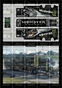 NASCAR 1/64 DECALS KB117 - KYLE BUSCH 2012 NWS #54 MONSTER ENERGY (HAULER)