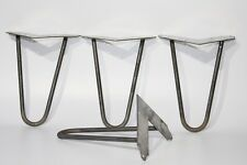 Set of 4 Hairpin legs/ hair pin  Table Desk Bench legs 8''/ 21 cm, Raw steel new