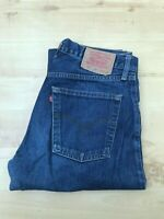 Men's Levi's 521 Straight Leg Blue Jeans W32 L33 (#A771)